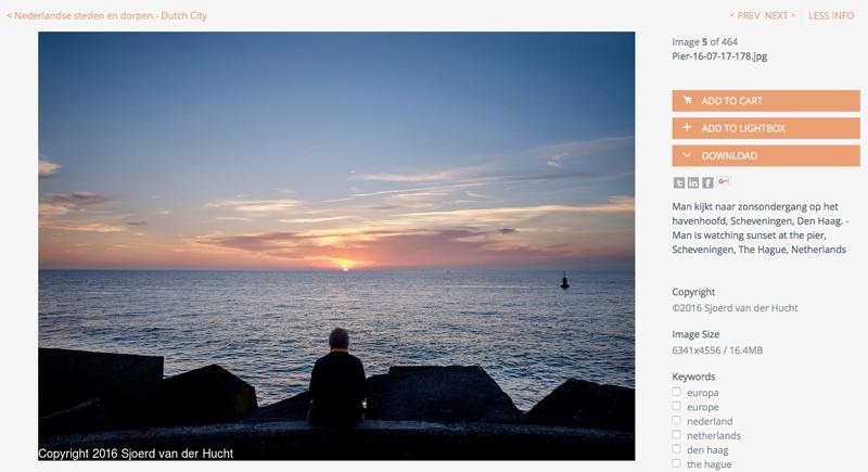 Sunset, The Hague Beach