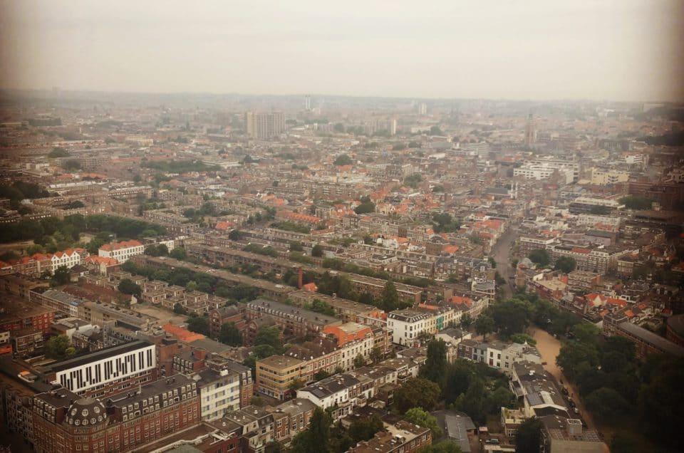 Instagram foto van het uitzicht vanaf de 41ste etage van de Haagse Toren