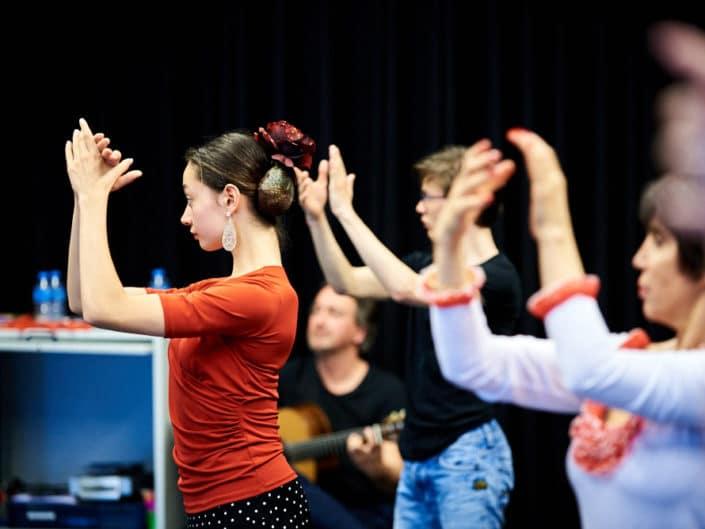 Foto van flamengo dansers van Liz Dans in Zuid57, Den Haag