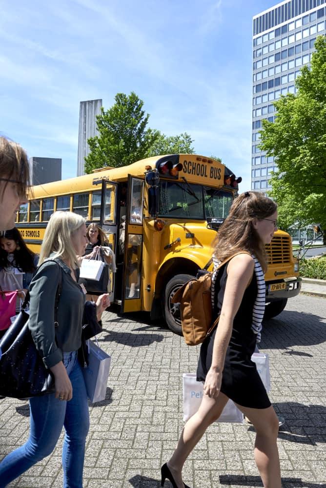 Foto voor het Advocatenblad. aagshoppen, een mogelijkheid voor studenten om met drie kantoren kennis te maken
