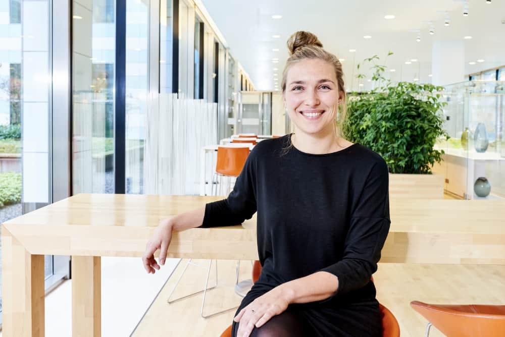 Werken bij,. Foto van werknemer Nationale-Nederlanden voor wervingscampagne IT-ers