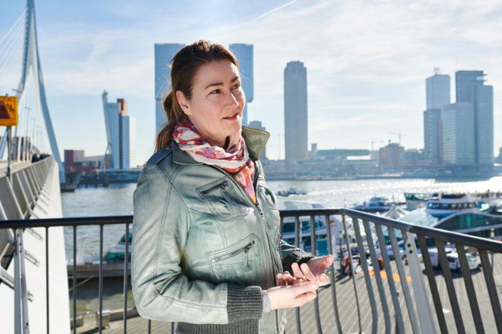 Portretfoto op locatie in Rotterdam
