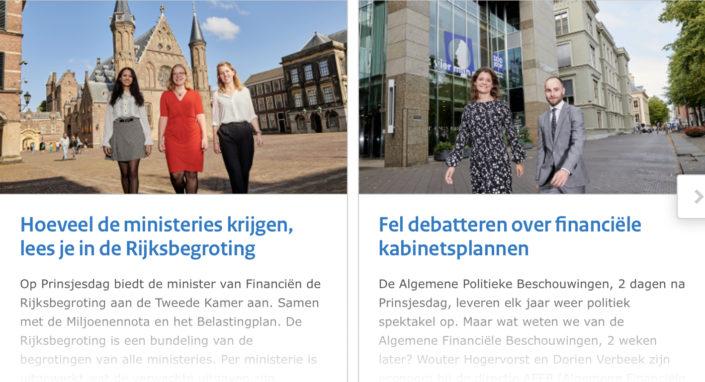 Fotografie voor Prinsjesdag special Werken voor Nederland
