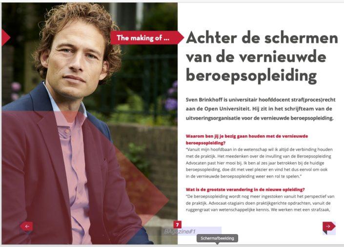 Portretfoto voor magazine