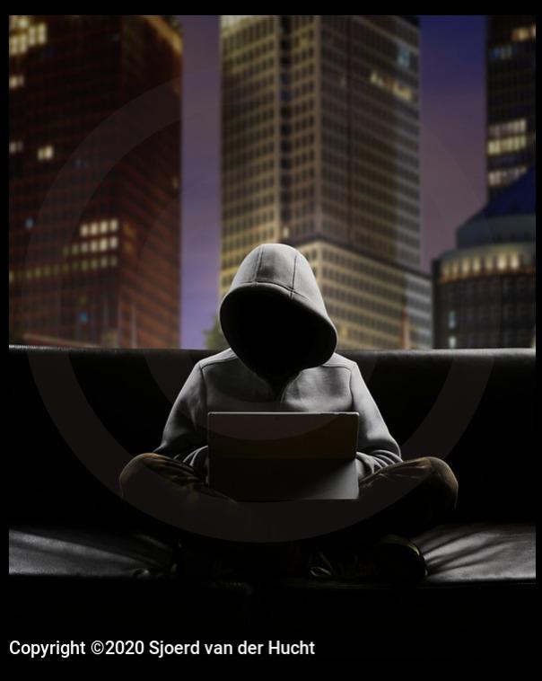 Foto van een hacker